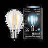 Лампа Gauss LED Filament Globe E14 5W 4100K