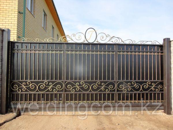 Кованые ворота консольные