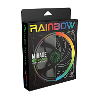 Кулер для кейса, Gamemax, 120мм (Gamemax FN-12RAINBOW-N) Addresable RGB 3Pin, фото 1
