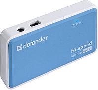 4-портовый разветвитель USB 2.0 Defender Quadro Power, фото 1