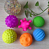 Набор из 6 текстурных мячей пищалок, фото 4