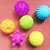 Набор из 6 текстурных мячей пищалок, фото 5