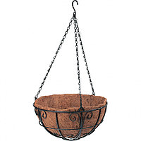 Подвесное кашпо с декором, 30 см, с кокосовой корзиной. PALISAD