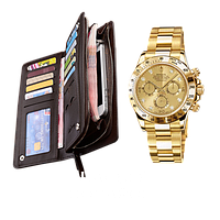 Портмоне Baellerry Business и часы Rolex Daytona в подарок