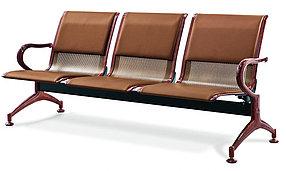 Скамейка 3х секционная с обивкой из эко кожи, фото 2