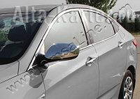 Накладки  на зеркала без повторителя Hyundai Accent / Хенде Акцент