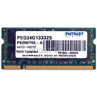 ОЗУ Patriot SODIMM DDR3-1333 4ГБ