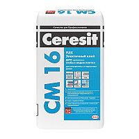 Эластичный клей Ceresit CМ 16 для крепления всех видов минеральной плитки, 25 кг