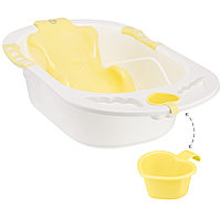 Ванна Happy baby с анатомической горкой Bath comfort Yellow
