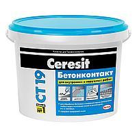 Грунтовка Ceresit CT19 Бетонконтакт для обработки гладких оснований, 10 л