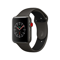 Apple watch edition series 3 lte 38mm gray ceramic case with gray/black sport band