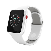 Apple watch edition series 3 lte 38mm white ceramic case with soft white/pebble sport band