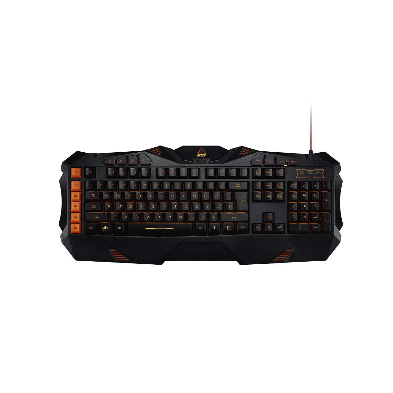 Клавиатура CANYON CND-SKB3-RU Wired multimedia gaming keyboard with lighting effect Marco setting fu