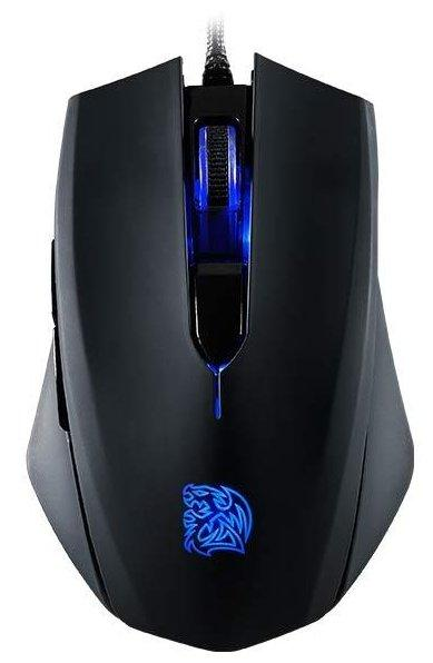 Мышь Thermaltake TALON Blu/Wired/Optical/Omron/Black/Color Box, MO-TLB-WDOOBK-01
