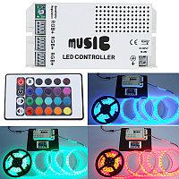 Музыкальный контроллер для RGB светодиодной ленты с пультом  MCIR-24-RGB, фото 1