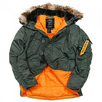 Куртка Аляска N3B HUSKY II SAGE GREEN ORANGE, фото 1