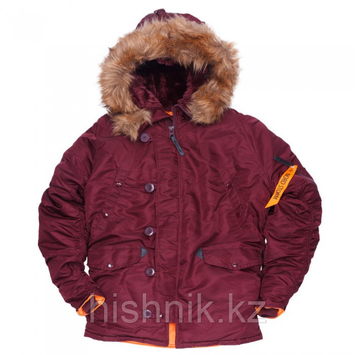 Куртка Аляска N3B HUSKY II MAROON ORANGE