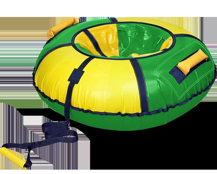 Тюбинг «Классик» зеленый с желтым, диаметр 900  мм