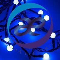 Светодиодная гирлянда ARD-BALL-CLASSIC-D13-5000-BLACK-50LED BLUE (230V, 3.5W)