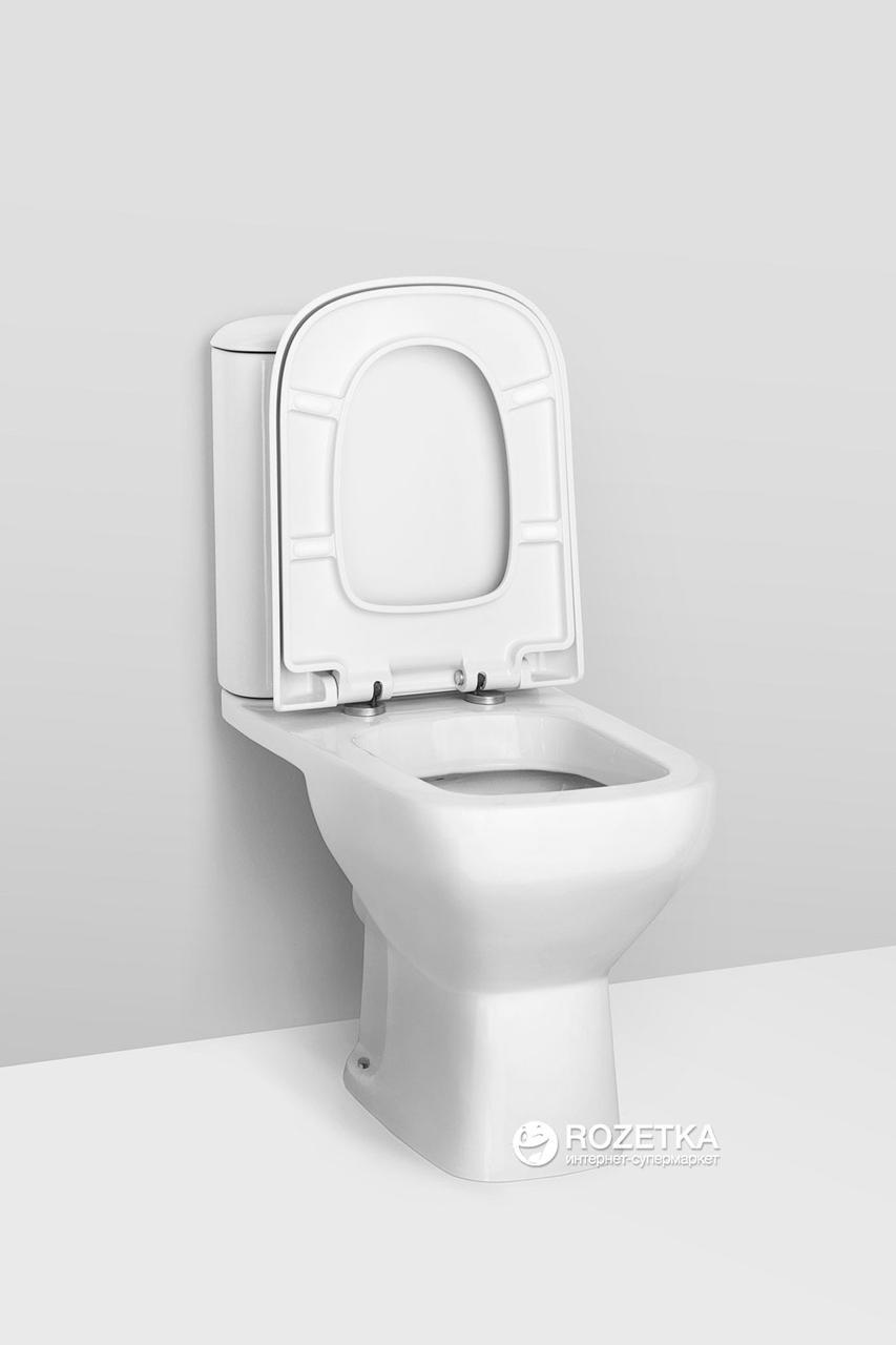 Напольный унитаз AM-PM Like, горизонтальный выпуск, сиденье дюропласт soft close