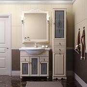 Пенал для ванной комнаты Opadiris Тибет, белый, правое открывание