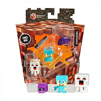 Minecraft Minifigures - Chast, Steve with Diamond Armour, Endermite (миникрафт)
