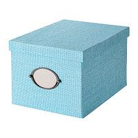 КВАРНВИК Коробка с крышкой, синий