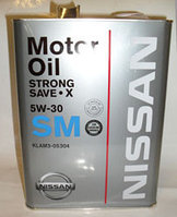Синтетическое Моторное масло NISSAN SM 5W-30 STRONG SAVE-X E SPECIAL 4L (KLAM205304)