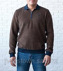 Кофта мужская Caporicco с отложным воротником коричневая