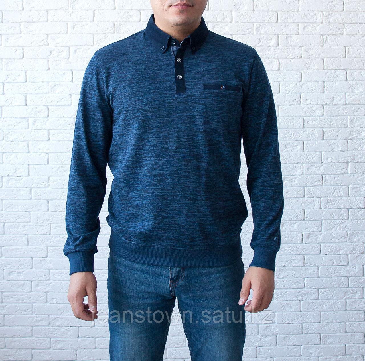 Кофта мужская с отложным воротником Caporicco синяя классическая