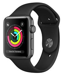 Часы Apple Watch Series 3 42mm Gray Aluminum Case with Black Sport Band