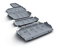 Защита картера + КПП алюминий Hyundai  Santa Fe Premium, V - 2.2d; 2.4, 2015-2016