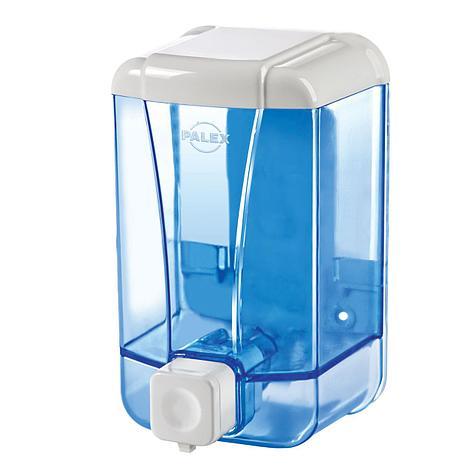 Диспенсер для жидкого мыла 500 мл, голубой , фото 2