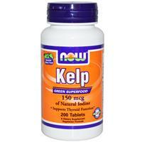 Ламинария - бурая водоросль (kelp), 200 таблеток. Now Foods