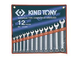 Набор комбинированных ключей, 8-22 мм, 12 предметов KING TONY 1212MR
