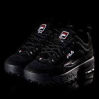 2018 FILA Disruptor II 2 Triple Black Shoes Unisex / 36 37 38 39 40 41 42 43 44