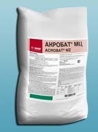 АКРОБАТ МЦ, 69% в.д.г. (манкоцеб, 600 г/кг + диметоморф, 90 г/кг)