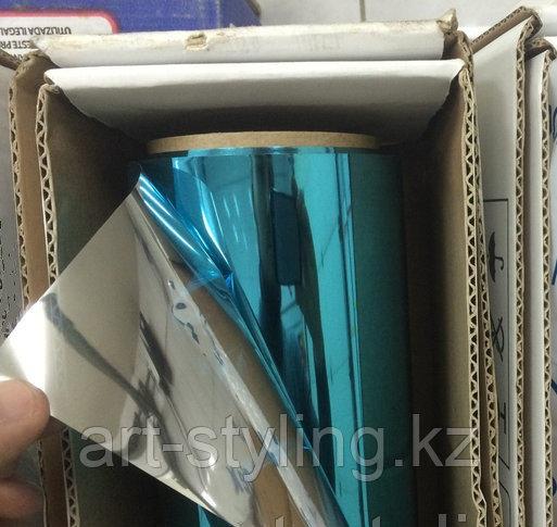 Синяя зеркальная пленка (обратный клеевой слой), в Алматы
