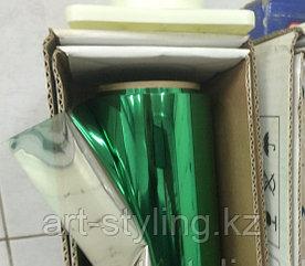 Зеленая зеркальная пленка (обратный клеевой слой)