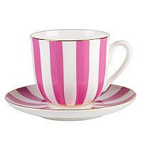 Чашка с блюдцем кофейная Да и Нет (Розовый). Императорский фарфор