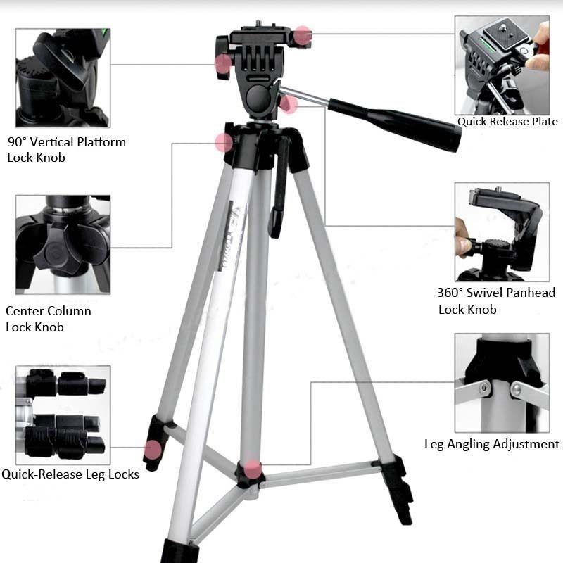 Трипод для фото/видео техники 50-135см, с тремя секциями и уровнем