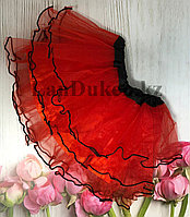 Юбка пачка детская для танцев 29 см Красная