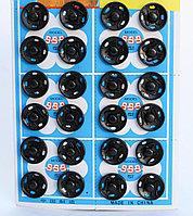 Кнопки пришивные, металлические, черные, 10 мм