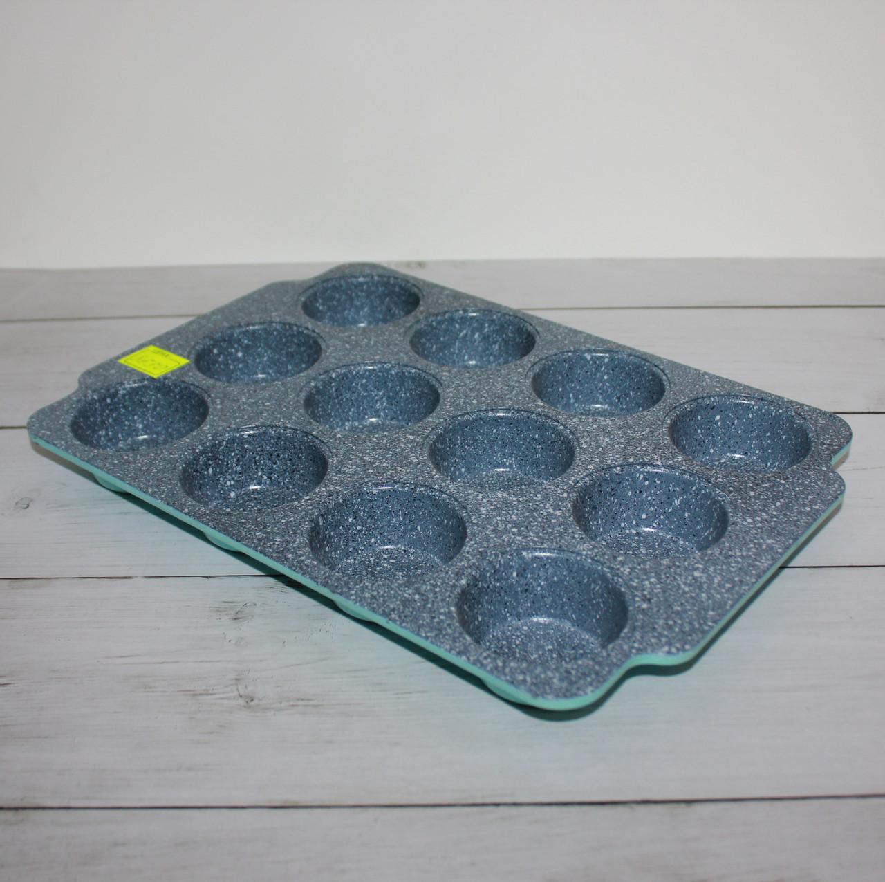 Форма мраморная прямоугольная для кексов (12 ячейки)