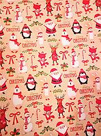 """Новогодняя бумага для упаковки подарков """"Merry Christmas"""""""