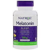 Мелатонин для спокойного сна, максимальное действие, быстрорастворимый 10 мг, 60 таблеток.  Natrol