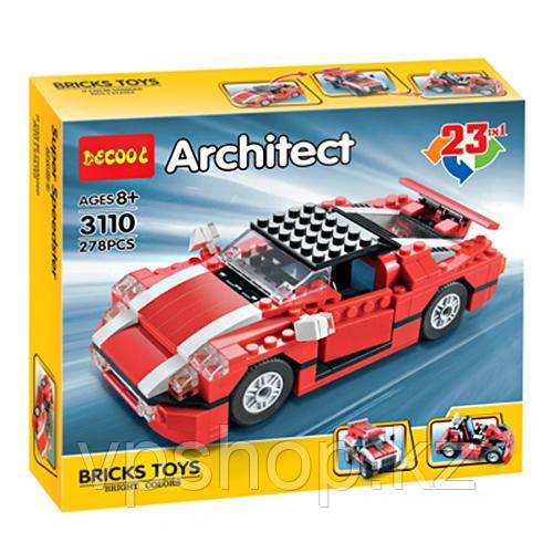 "Конструктор Decool 3110 (аналог Lego Technik) Architect ""23 в 1"", 278 дет доставка"