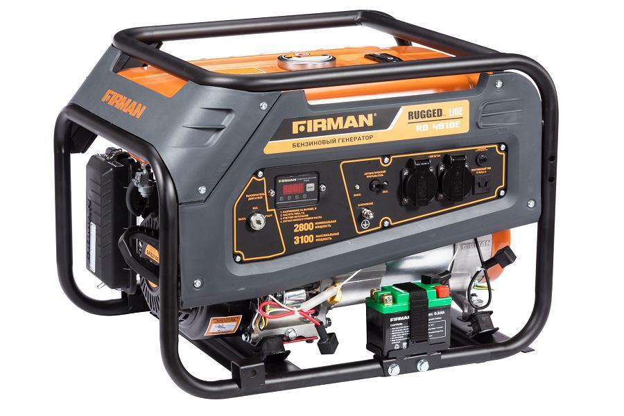 Генератор бензиновый FIRMAN RD4910Е 2,8 кВт с электростартером