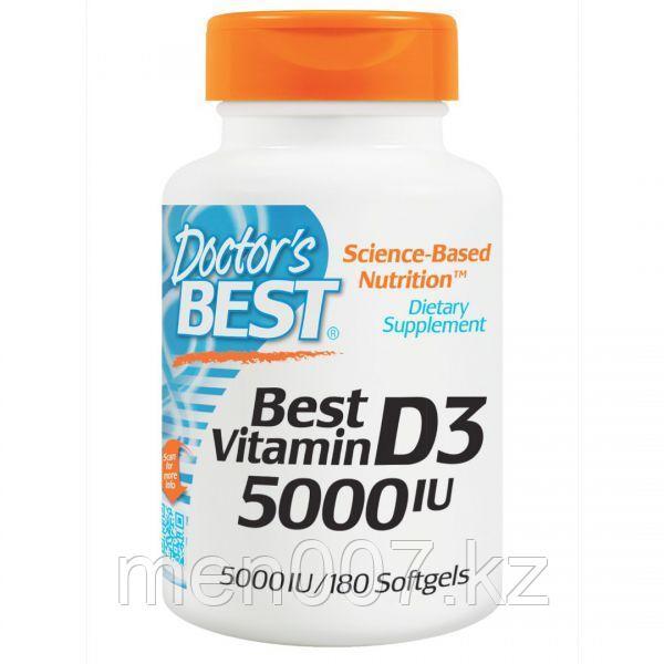 БАД Витамин D3, 5000 ME (180 капсул) Doctors best