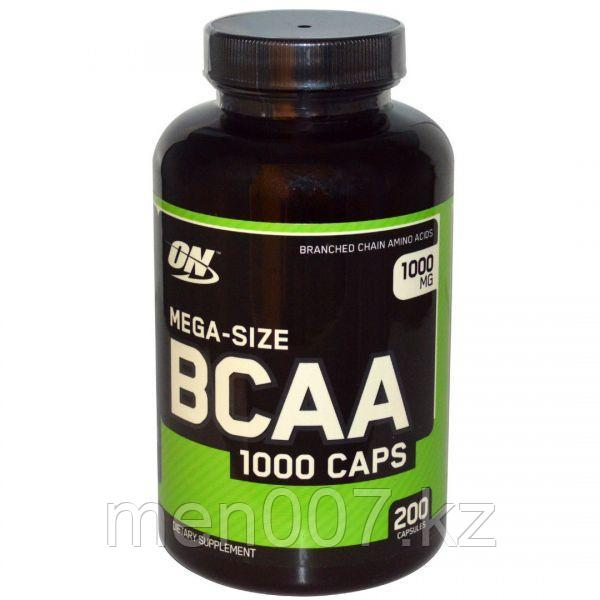 БАД Mega-Size BCAA, 1000 мг (200 капсул)